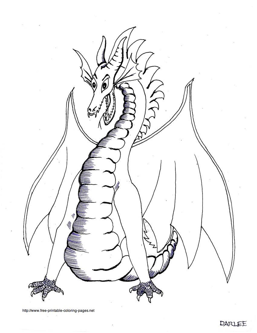 Dragon Printable Coloring Pages - Free Dragon Coloring Sheets