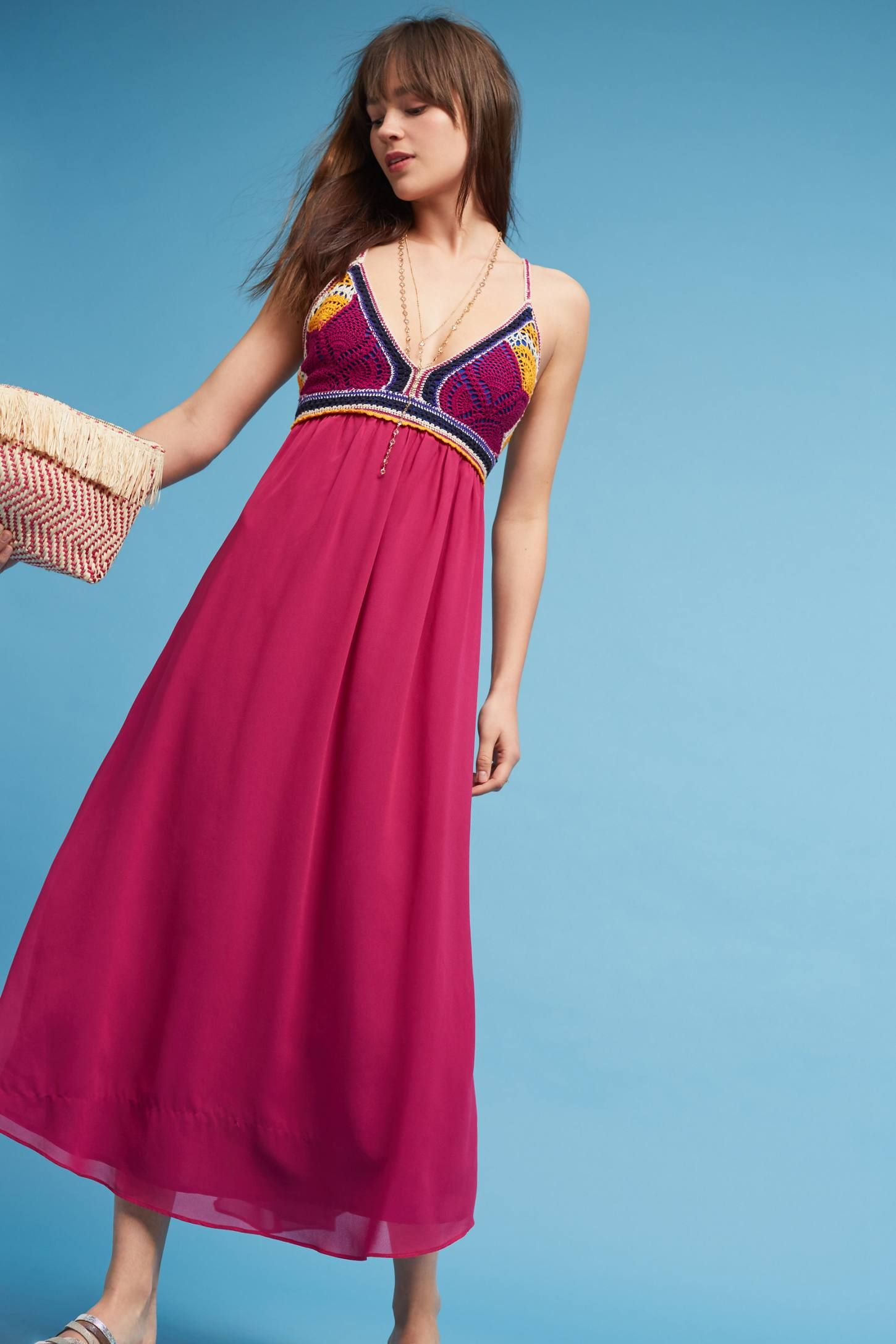 Slide View: 1: Sunset Crocheted Maxi Dress, Violet   My Style ...
