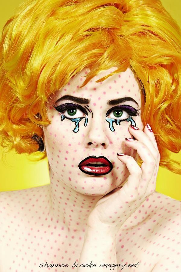 Roy Lichtenstein Inspired Comic Book Makeup / Model iO by Shannon ...