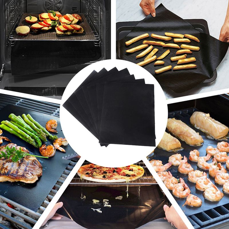 Reusable Non-stick Surface BBQ Grill Mat Baking Easy Clean Grilling