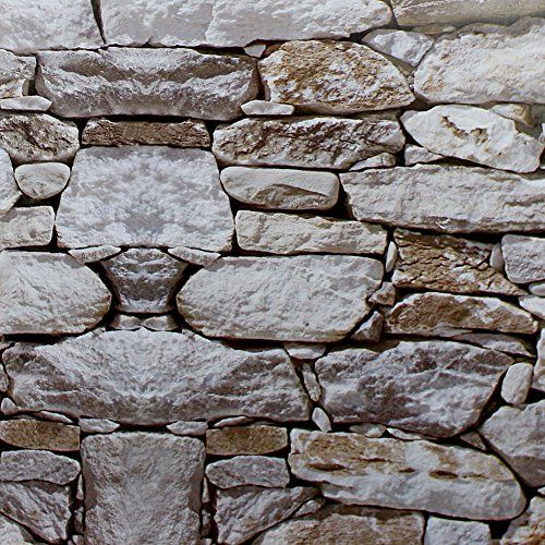 Haokhome 1900 Faux Rock Stone Peel And Stick Wallpaper Lt Https Www Amazon Com Dp B06xqk1519 Ref Cm Sw R Pi Contact Paper Brick And Stone Stone Wallpaper