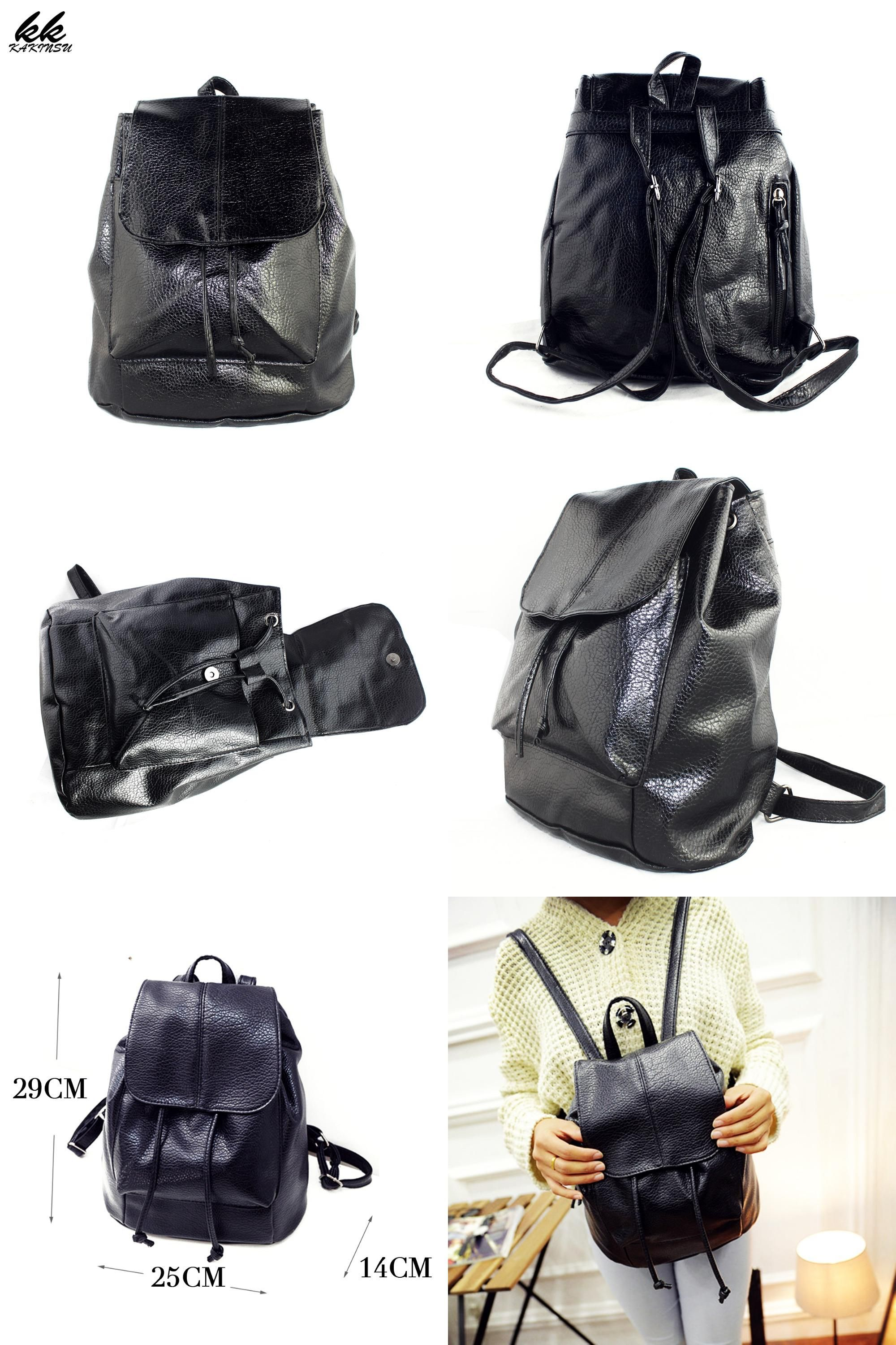 53227de1ac77 ... Luggage   Bag Collections.  Visit to Buy  2017 Design PU Leather  Backpack Women Backpacks For Teenage Girls School