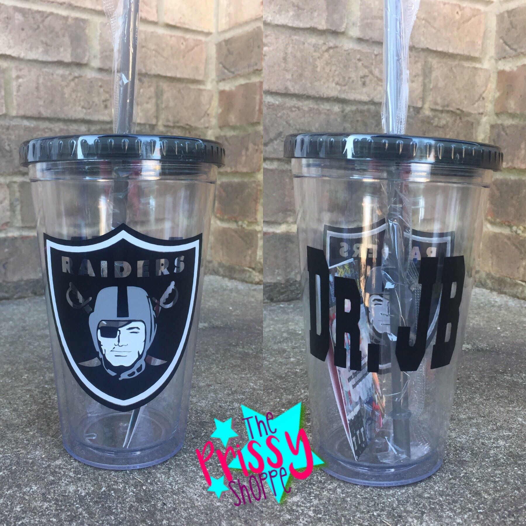 13a40e943d40 Oakland Raiders Football · Custom Tumblers · Personalized Tumblers · A  personal favorite from my Etsy shop https   www.etsy.com