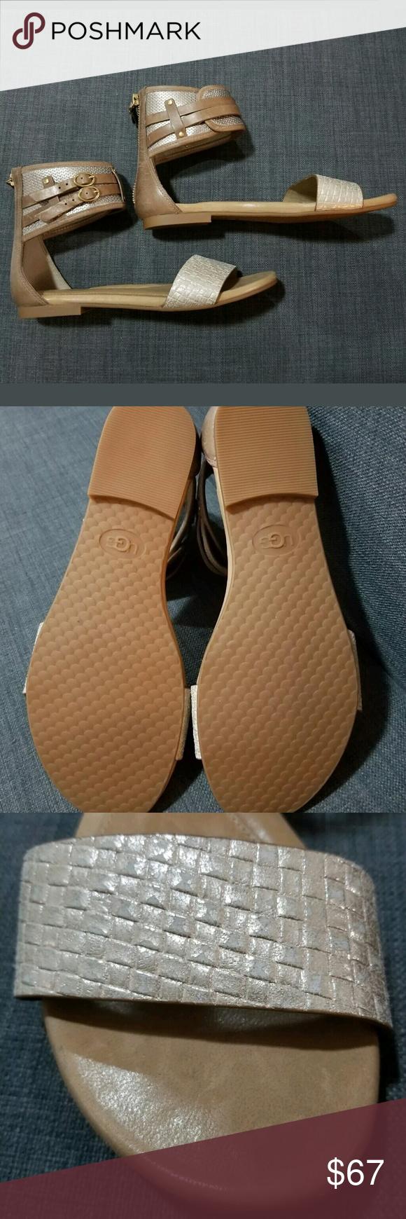 9bdc2738aae6 New UGG Australia SAVANA Metallic Basket SANDALS Brand new UGG Savana  Metallic Basket sandals Size 6