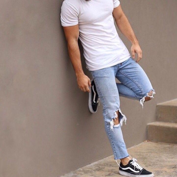 White Shirt, Stone Wash Jeans, Old School Vans! | Kapade ...