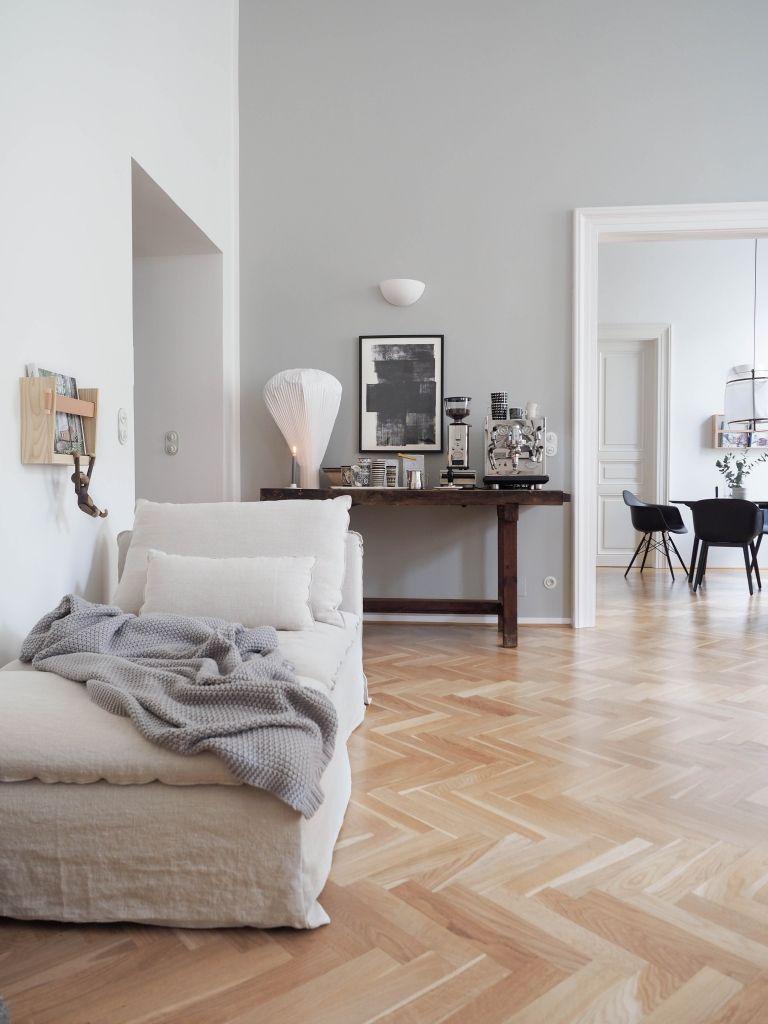 Graue Wandfarbe von Farrow & Ball Graue wände wohnzimmer