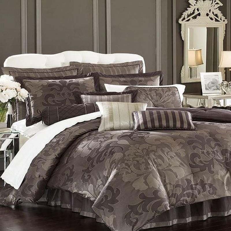 Silver Bed In A Bag Nolita 4 Piece King Damask Comforter Bed