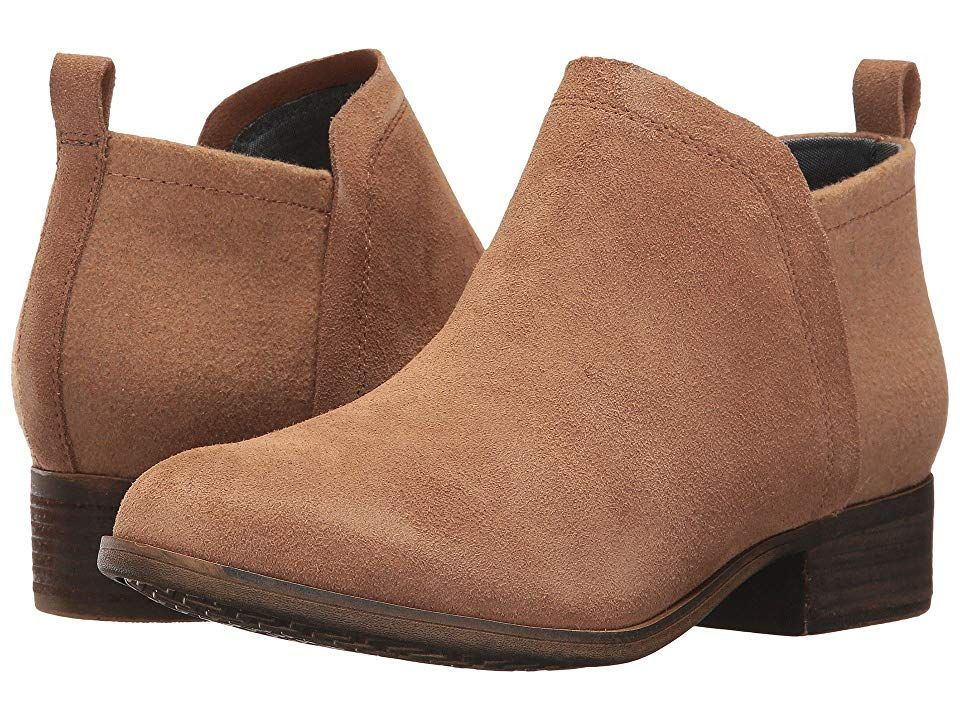 TOMS Deia Bootie Toffee SuedeWool Womens Boots With every pair of shoes you purchase TOMS will give a new pair of shoes to a child in need One for One The stylish Deia Bo...