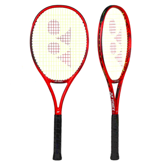 Denis Shapovalov S Racquet The Yonex Vcore 95 Is Back With A Few Nice Tweaks The Isometric Head Shape Remains And Aero Fin T Racquets Tennis Tennis Racquet