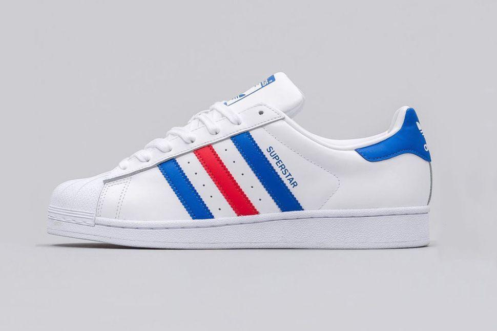 adidas superstar rayas rojas y azules