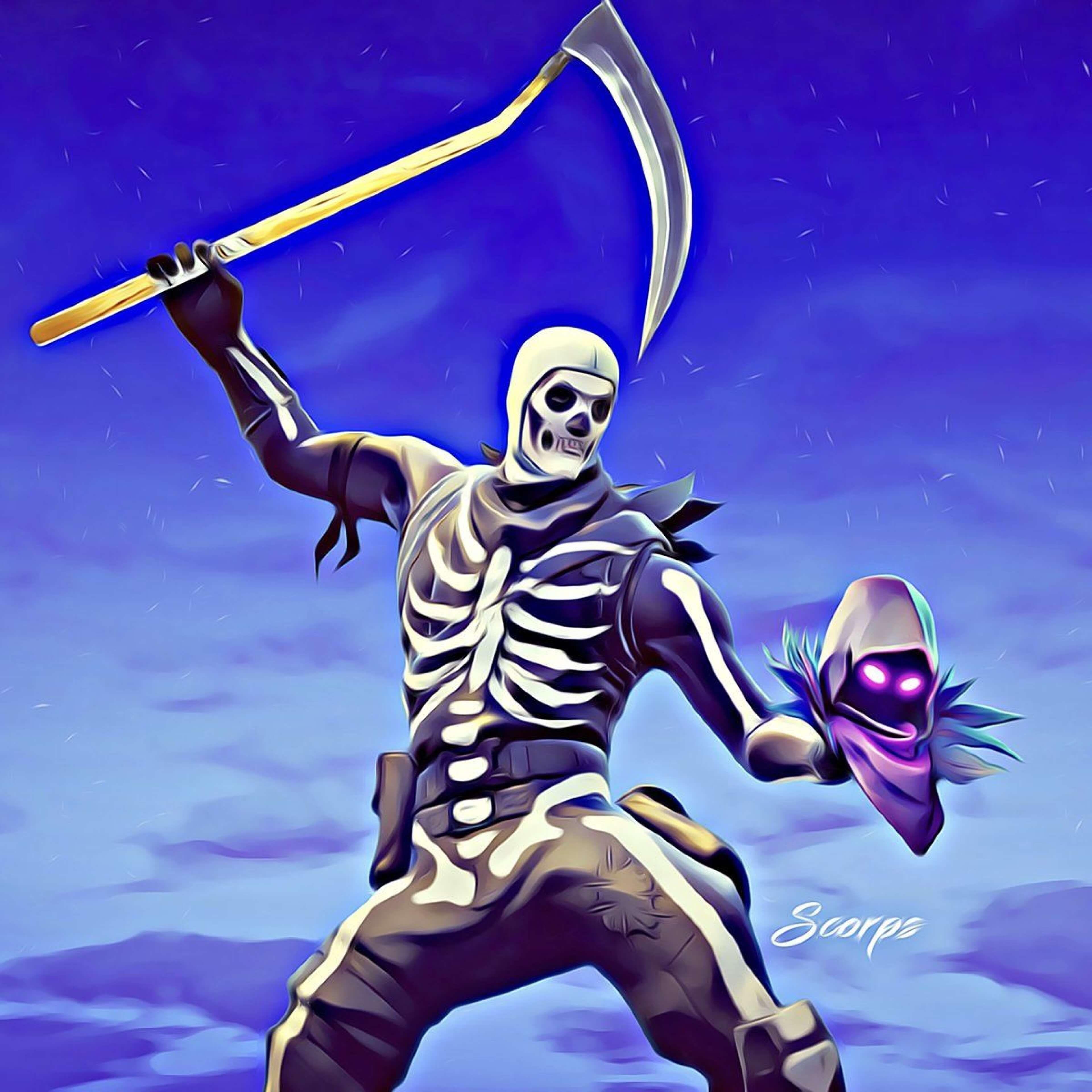 Https Www Wallpaperplex Com Best Fortnite Skull Trooper