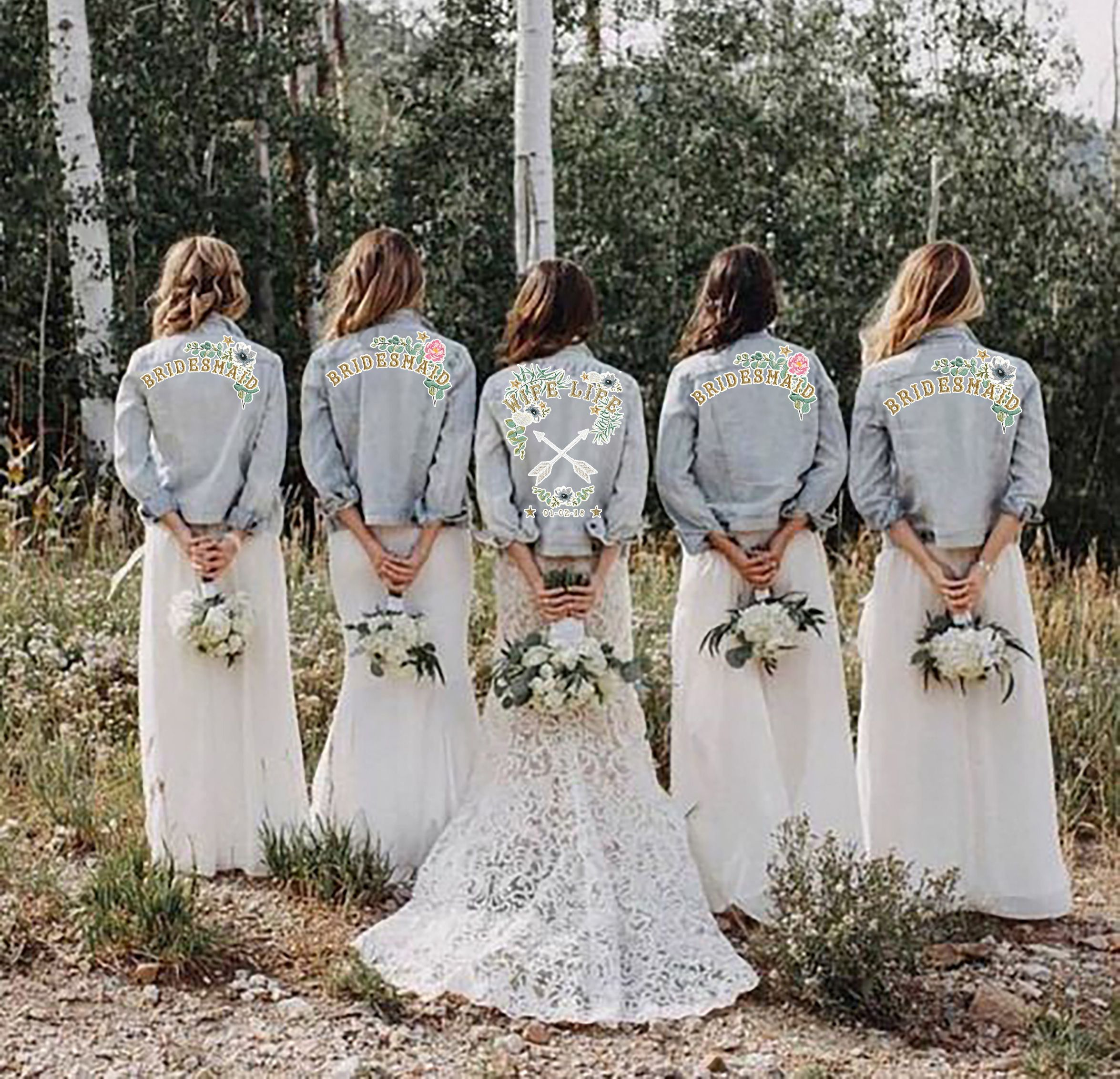 Customisable Denim Bridal Jacket (XS,S,L) – Denim & Bone