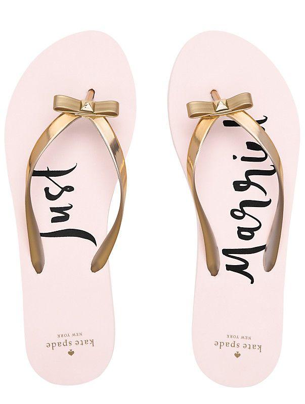 4c57532ba Just married flip flops for the honeymoon!