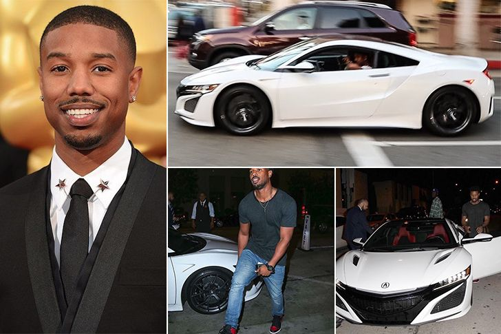 Michael B Jordan Honda Acura Nsx Supercar Estimated 156k Actor Michael B Jordan Was Throwing Some Quick Punches As Adonis Celebrity Cars Acura Acura Nsx