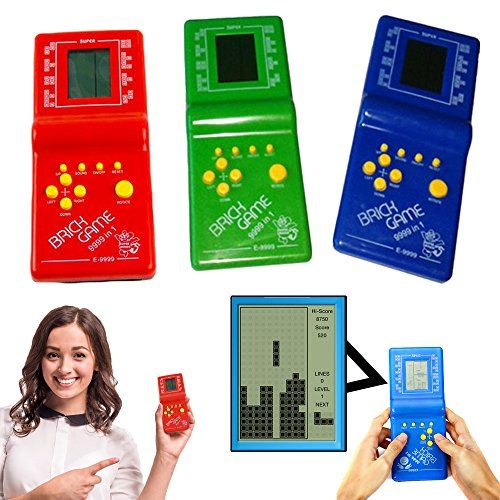 Kids' Handheld Games - Dazzling Toys Hot Kids Toys Educational Tetris Game Hand Held LCD Electronic Toys Brick Game -- Check this awesome product by going to the link at the image.
