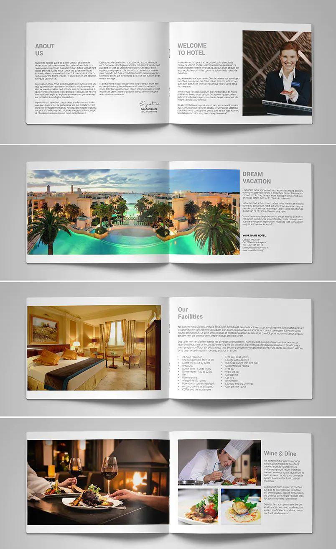 Hotel Brochure / Catalog Template   Hotel brochure, Brochure, Catalogue  design templates