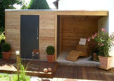 Gartenhaus Lausitz40 ISO mit Falttür (mit Bildern