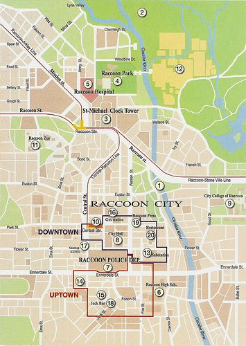 Raccoon City Map Google Search Justiceiro Filmes Game
