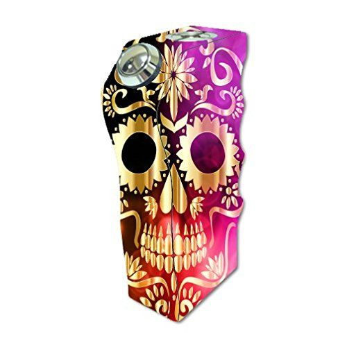 Tesla invader vape e cig mod box vinyl decal sticker skin wrap golden skull