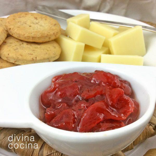 Esta mermelada de pimientos rojos tiene un toque agridulce - Como hacer mermelada de pimiento ...
