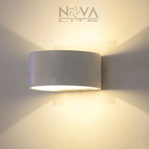 Semi Round Wall Light Indoor Lighting Aluminum LED Up Down Wall ...