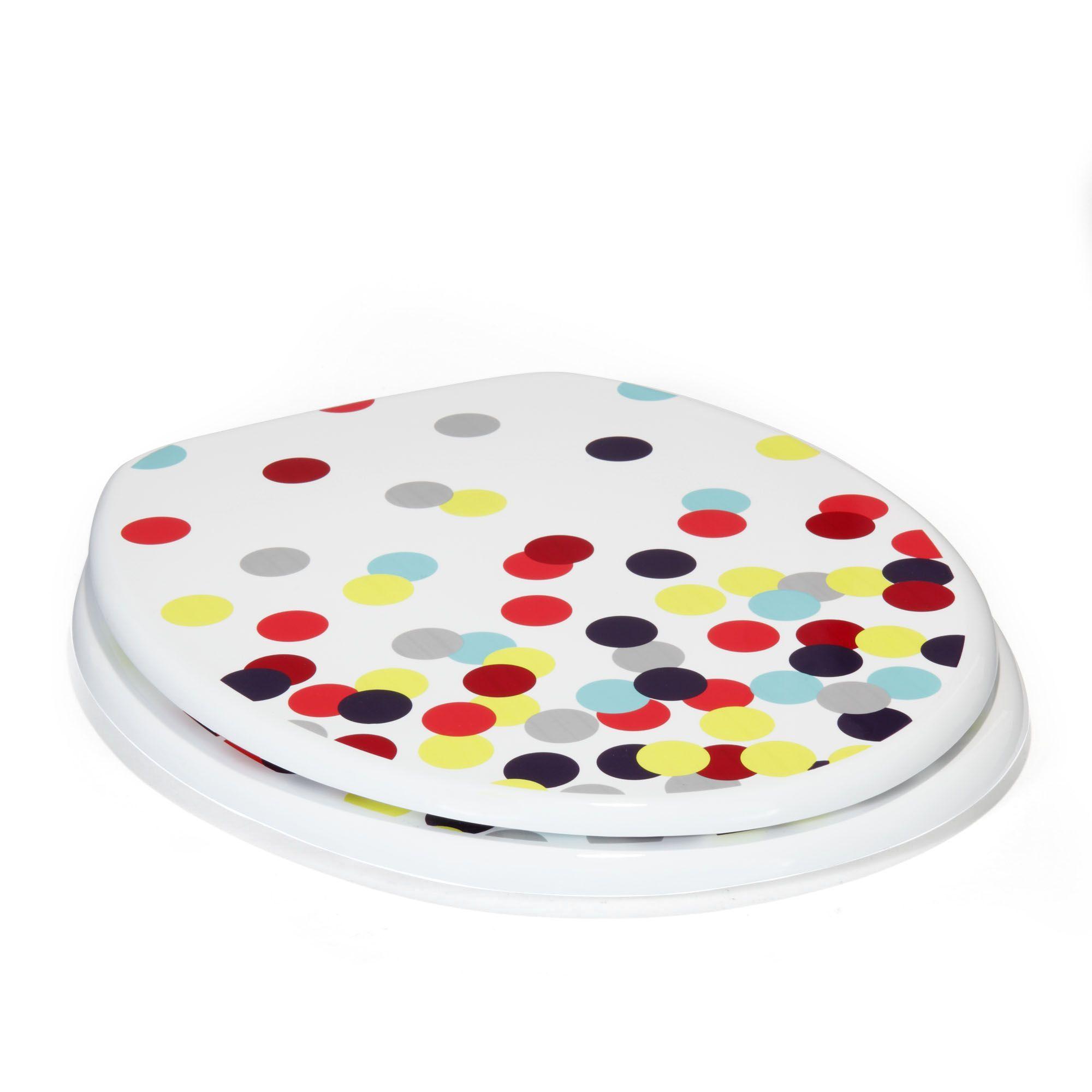Oakland Salle De Bain ~ abattant wc multicolore confetti les abattants wc abattants et