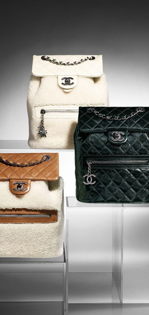 Calfskin and shearling backpack... - CHANEL  06df6b534d7a6