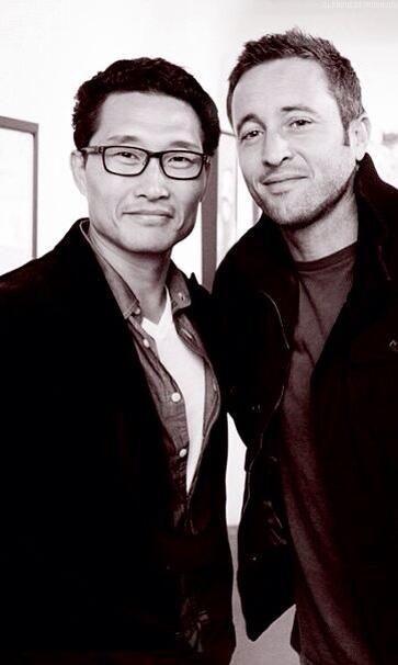 Alex O'loughlin and Daniel Dae Kim from Hawaii Five-0