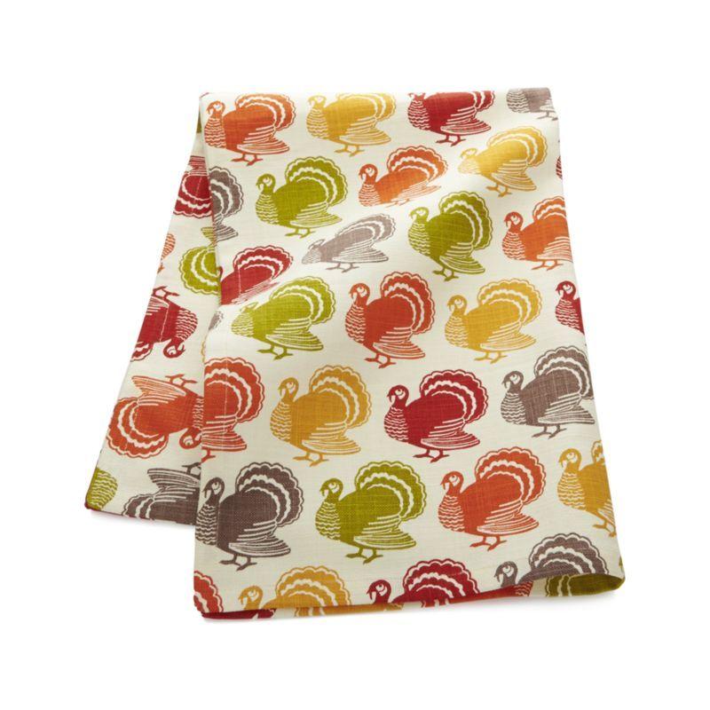 Turkey Trot Dish Towel | Crate and Barrel