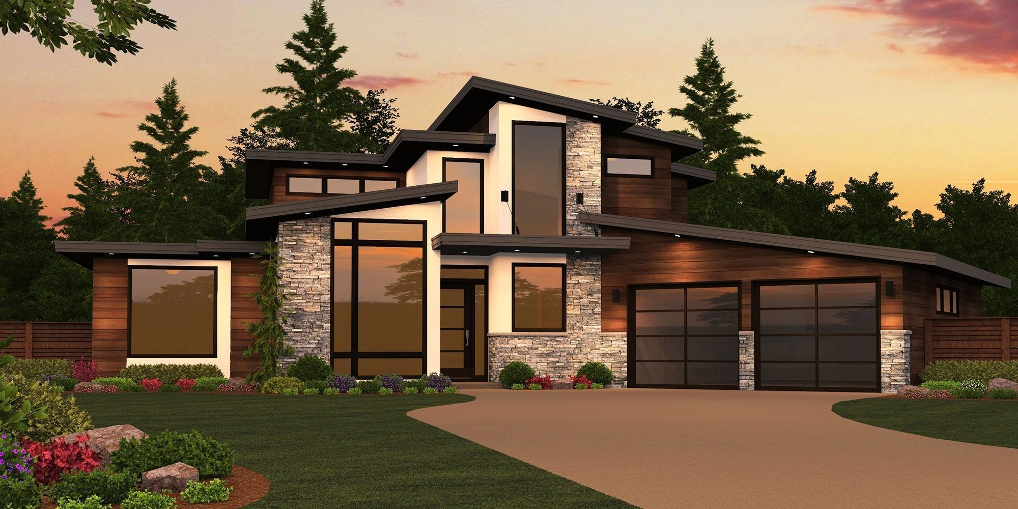 Modern House Plans & Home Designs Shop Floor Plans With