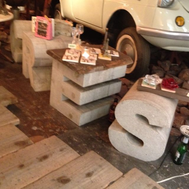Marvelous Concrete Letters... They Would Make Great Coffee Table Stands, And Probably  Look