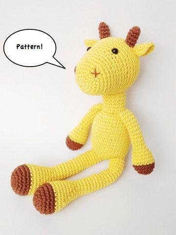 Giraffe Crochet Amigurumi Pattern. how to crochet a giraffe ...   480x360