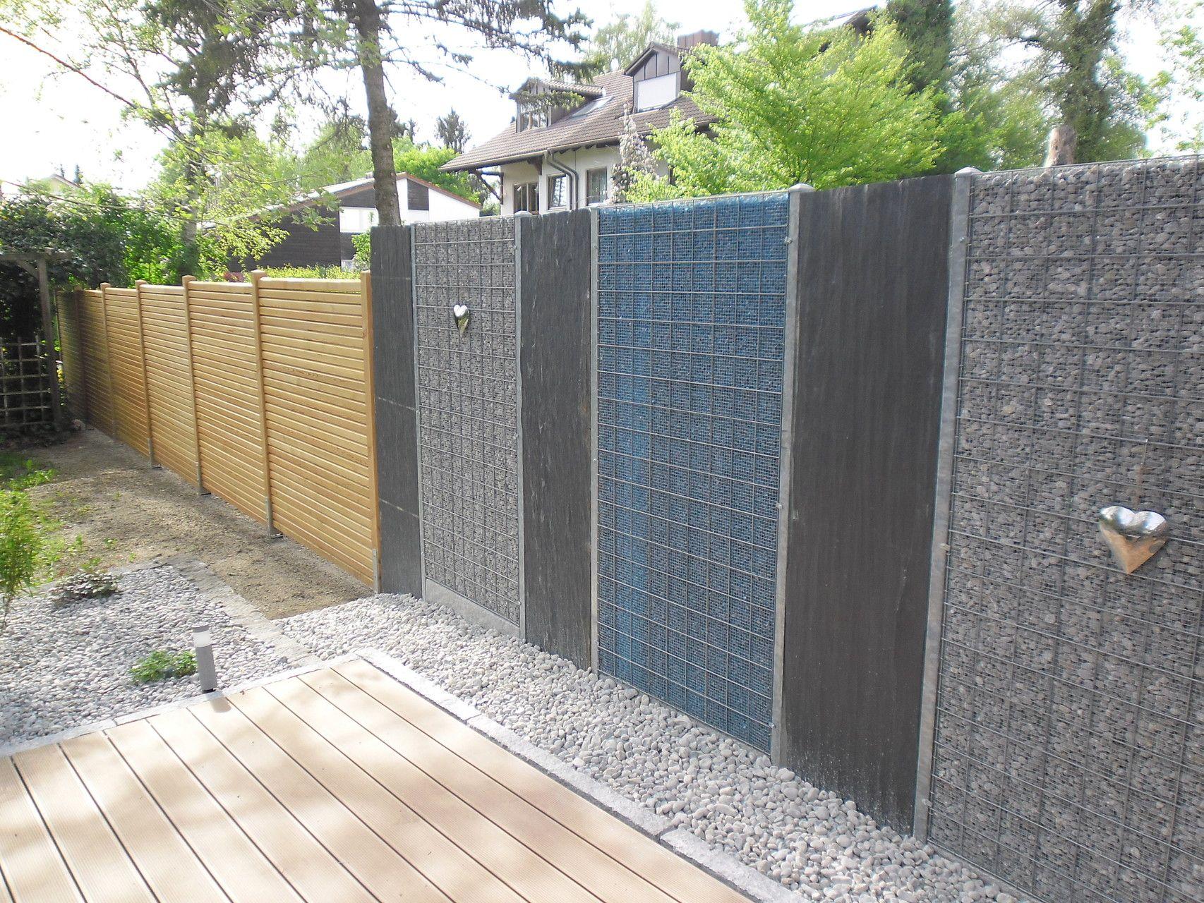 Trend Baustelle Garten Bronder Gabione Classic kombiniert mit Acrylglas garten gartengestaltung gabionen gartenbau landescape garden galaba u