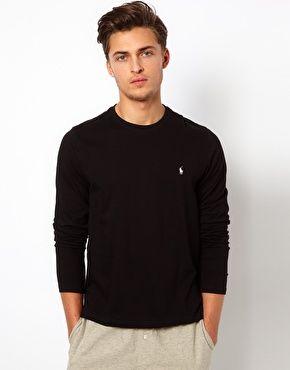 7ec0fc05e9e4 Polo Ralph Lauren Black Long Sleeve Top Regular Fit