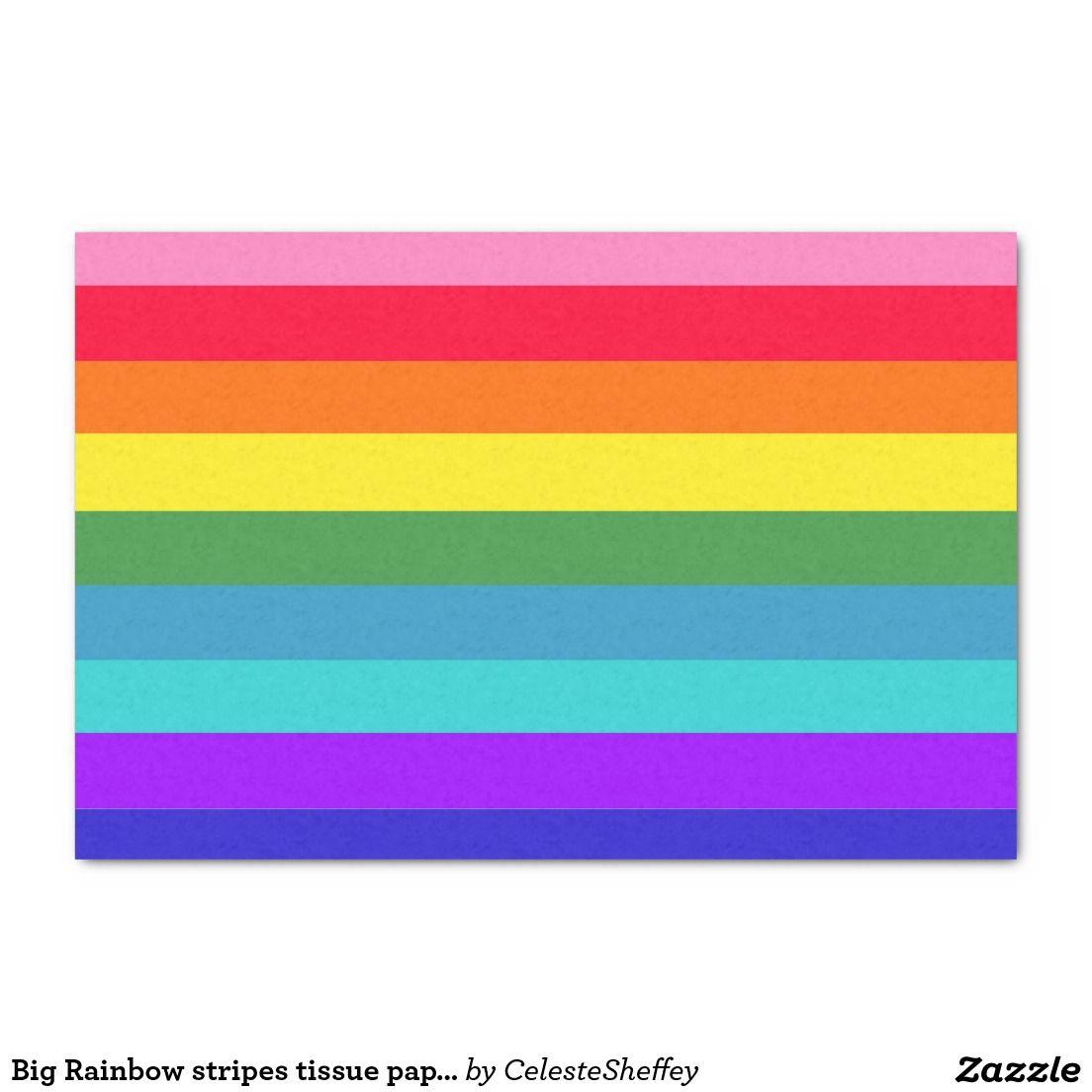 "Big Rainbow stripes tissue paper 10"" X 15"" Tissue Paper"