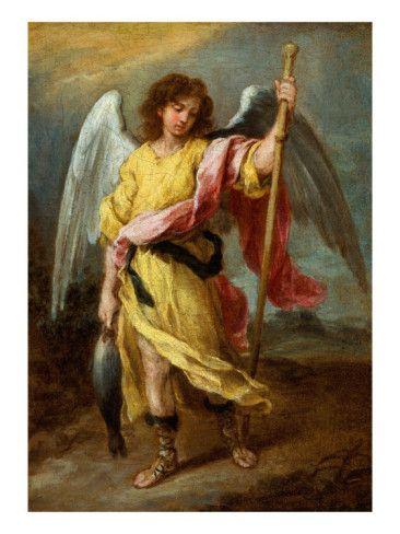The Archangel Raphael Giclee Print By Bartolome Esteban Murillo