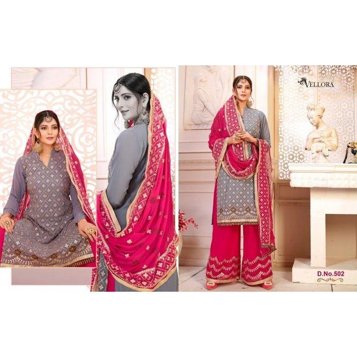 fae8b733b2 Kesari Exports Vellora Vol-5 Georgette Salwar Suits Wholesale Catalog