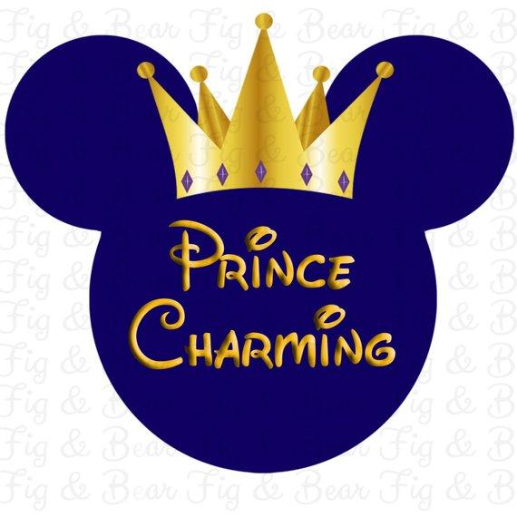 Disney Prince Charming Baby Boys T Shirt Iron On Transfer