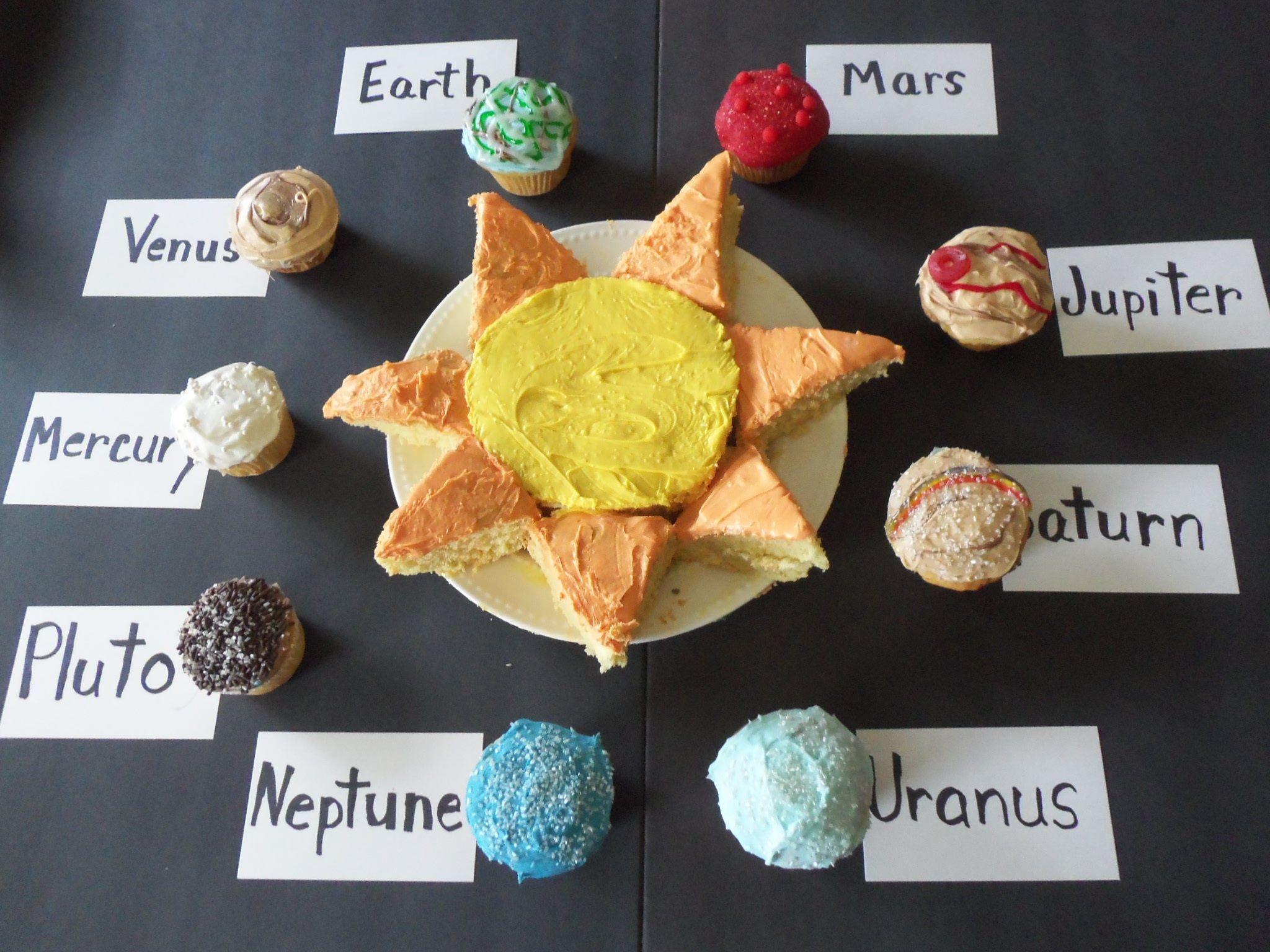What A Coole Idea Fun Cupcake Recipe Make Solar System
