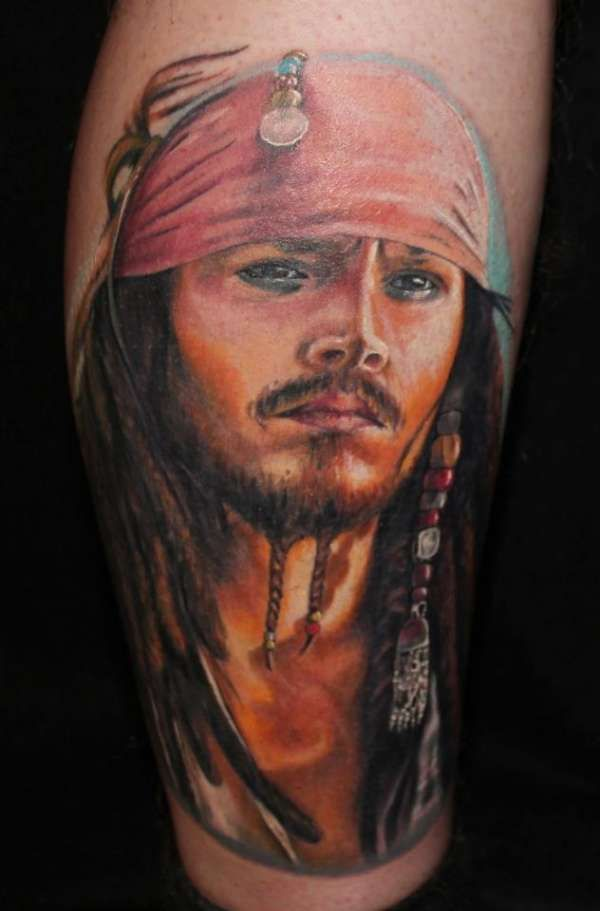Tatuaje Calavera Johnny Depp i wouldn't get this, but, i think that this is really cool