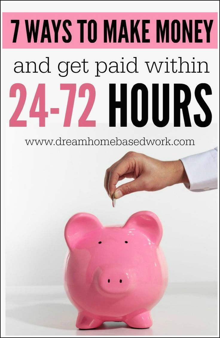 7 Möglichkeiten, online Geld zu verdienen und innerhalb von 24 – 72 Stunden bezahlt zu werden   – Make Money Online