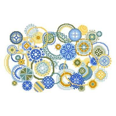 Bubbles cross stitch pattern. | REPINNED.