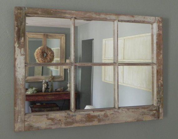 Repurposed Old 6 Pane Window Mirror On Etsy 70 00 Wohnungsdeko