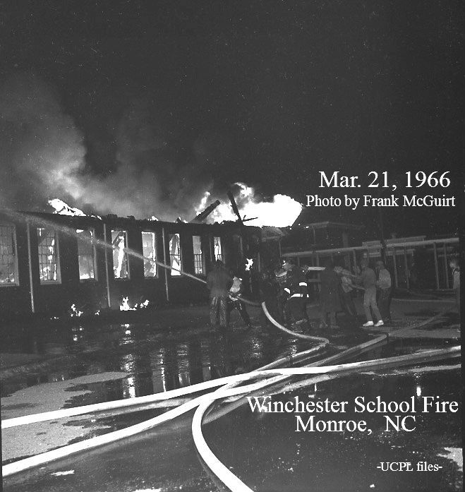 The Winchester School Monroe S African American School For Many Years Had A Major Structural Fire On March 21 1966 As A Resu Union County Winchester Photo