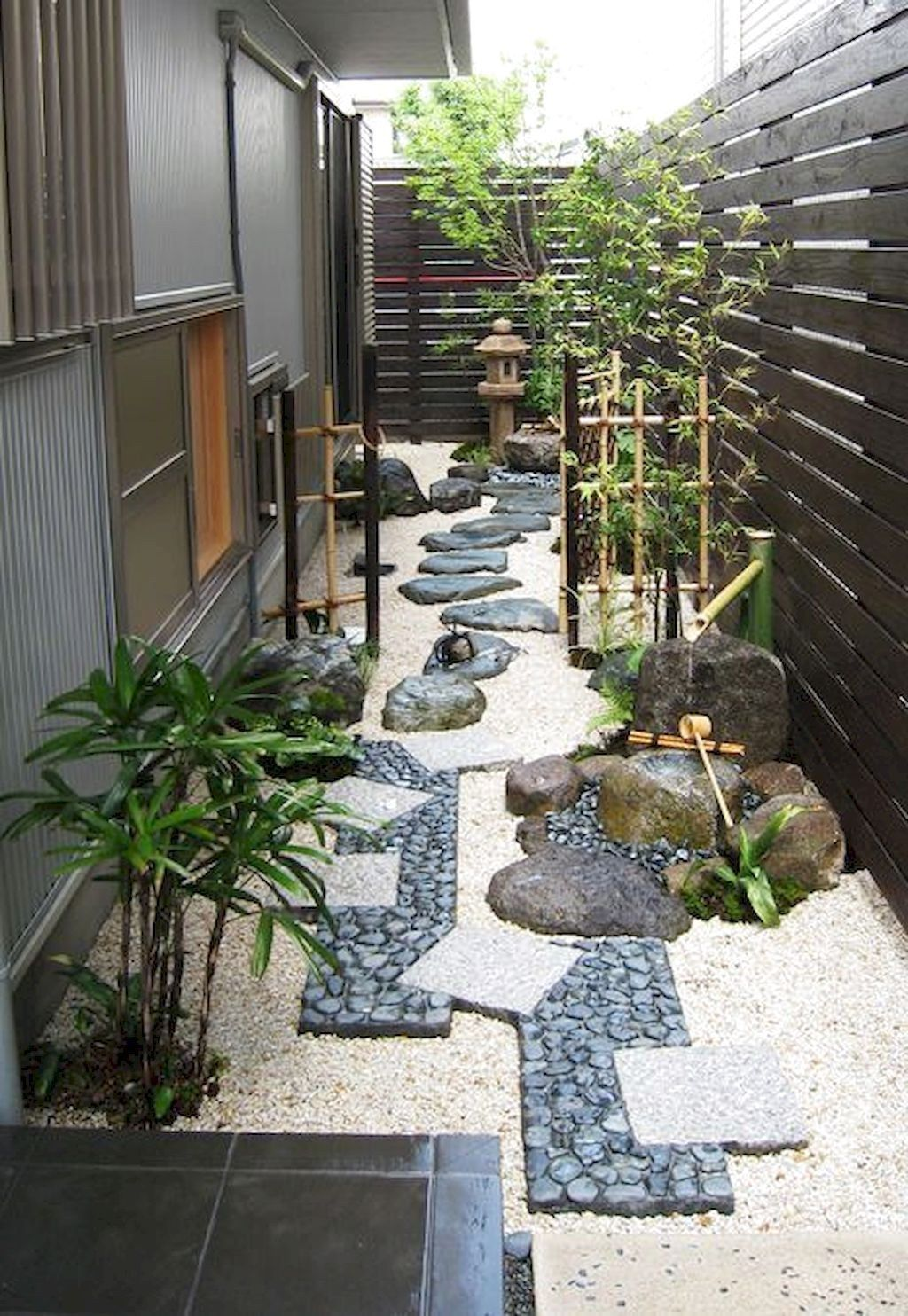 90 Best Side House Garden Landscaping Decoration Ideas With Rocks Japanese Garden Design Side Yard Landscaping Japanese Garden