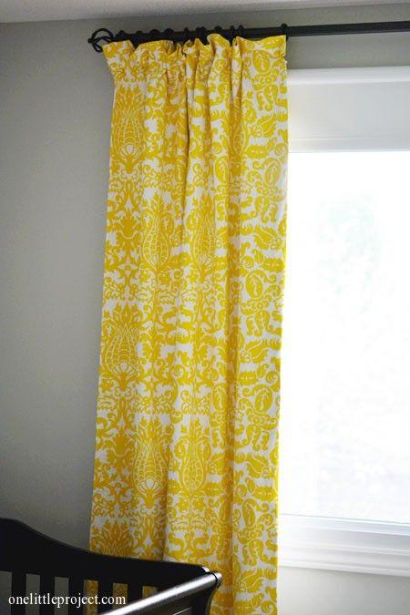 Premier Prints Amsterdam Blackout Curtains Reveal Yellow