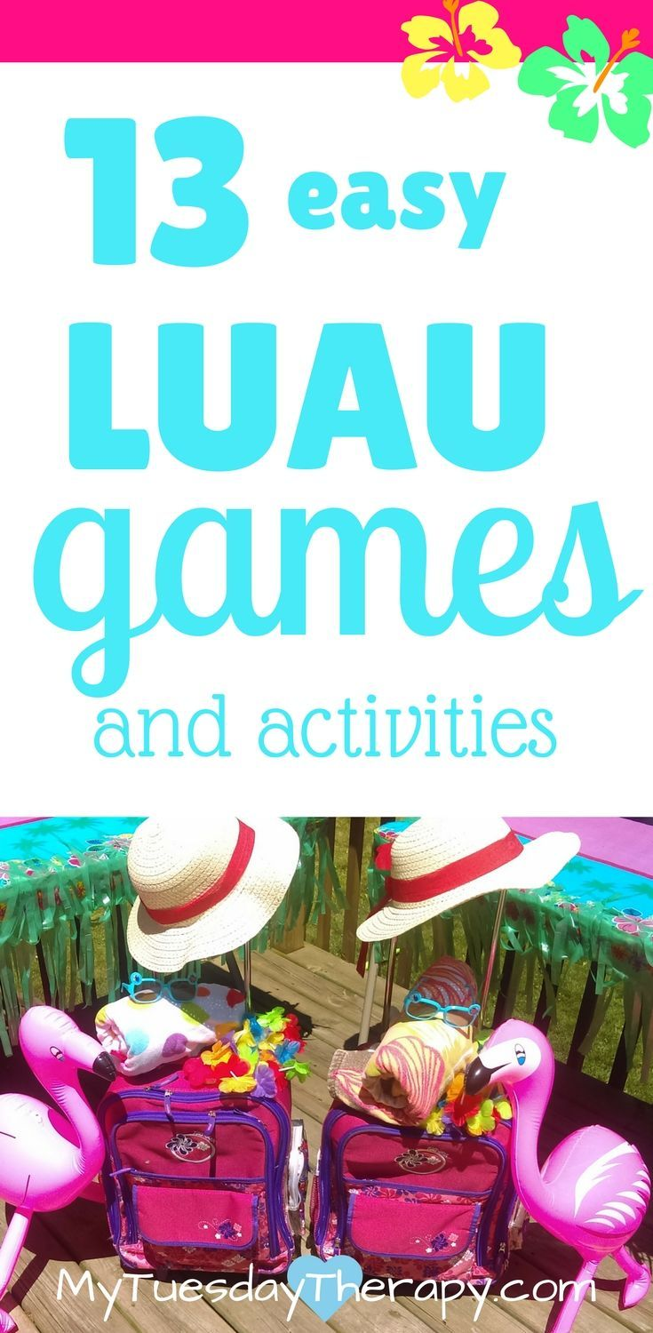 Aloha it is time to have a luau party luau party games