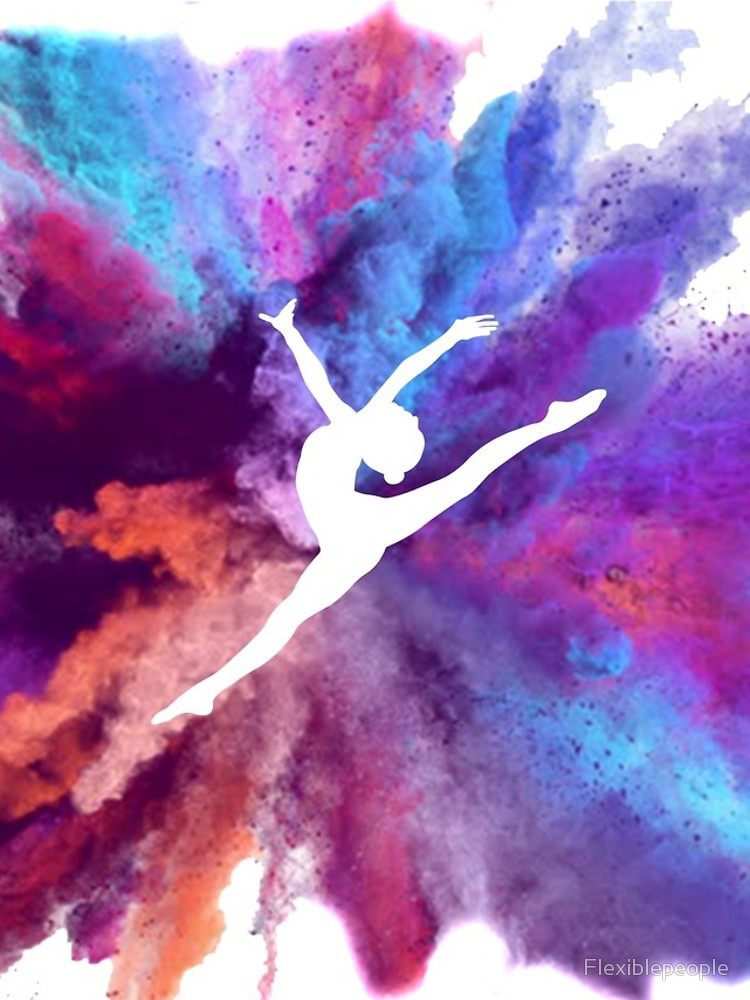 Iphone 12 Blanda Gimnasta Rainbow Explosion De Flexiblepeople Gymnastics Wallpaper Gymnastics Wall Art Gymnastics Posters