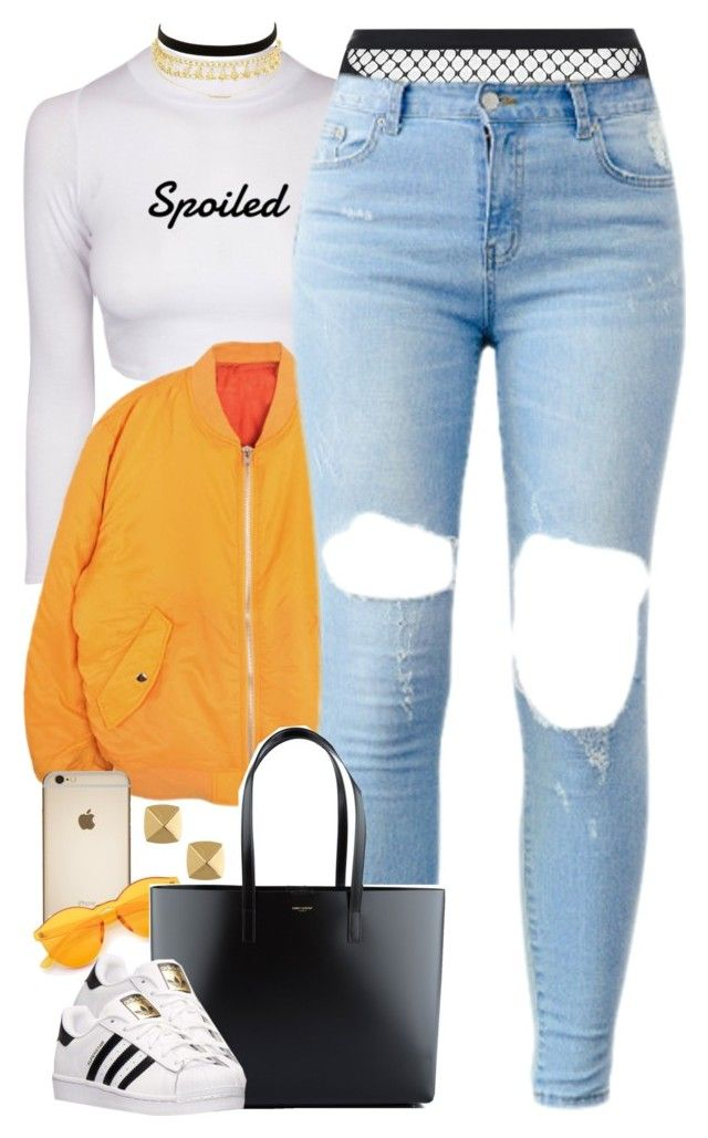 """""""Untitled #1623"""" by power-beauty ❤ liked on Polyvore featuring Agent Provocateur, Yves Saint Laurent, adidas, Charlotte Russe and Vince Camuto"""