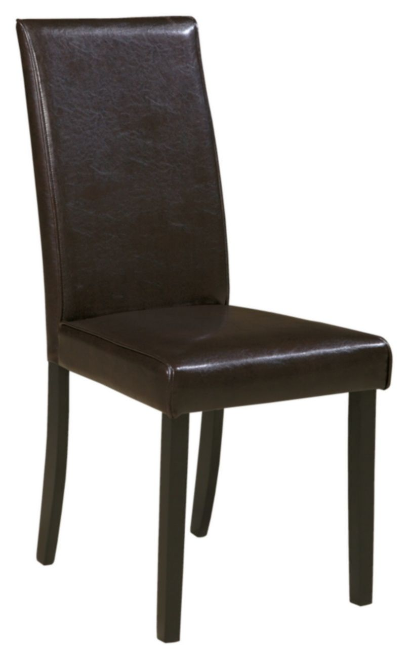 Signature Design Kimonte Dining Upholstered Dark Brown Side Chair